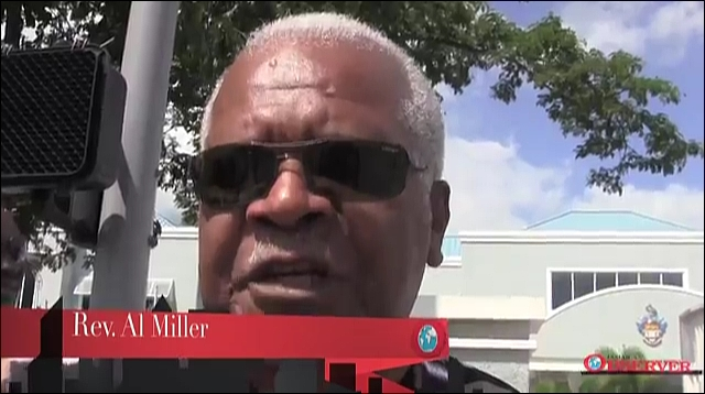 Rev Al Miller a UWI campus demonstration